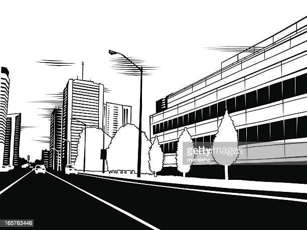 都会の Street