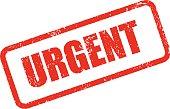 Urgent Rubber Stamp Ink Imprint Icon (Transparent Background)