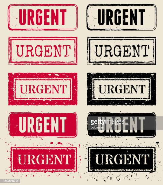Urgent Vector Rubber Stamp Collection