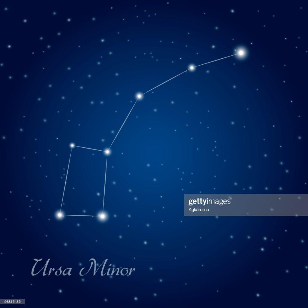 Ursa Minor constellation at starry night sky