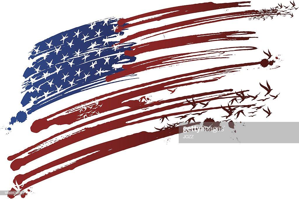 usa ink made flag