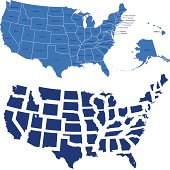usa map and all states