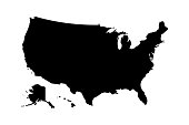 Usa map icon high detailed isolated vector illustration. Abstract concept graphic element. United States of America isolated.