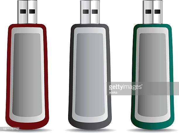 usb flash drive - desk toy stock illustrations, clip art, cartoons, & icons