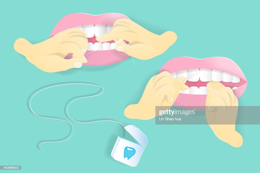 use floss clean tooth
