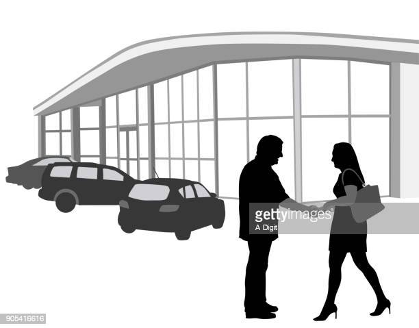 used car deal - car salesperson stock illustrations, clip art, cartoons, & icons