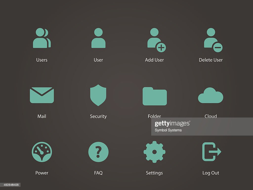User Account icons