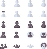 User and People Set Of Abstract, Account Icon