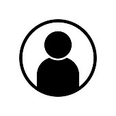 User avatar profile icon black vector illustration
