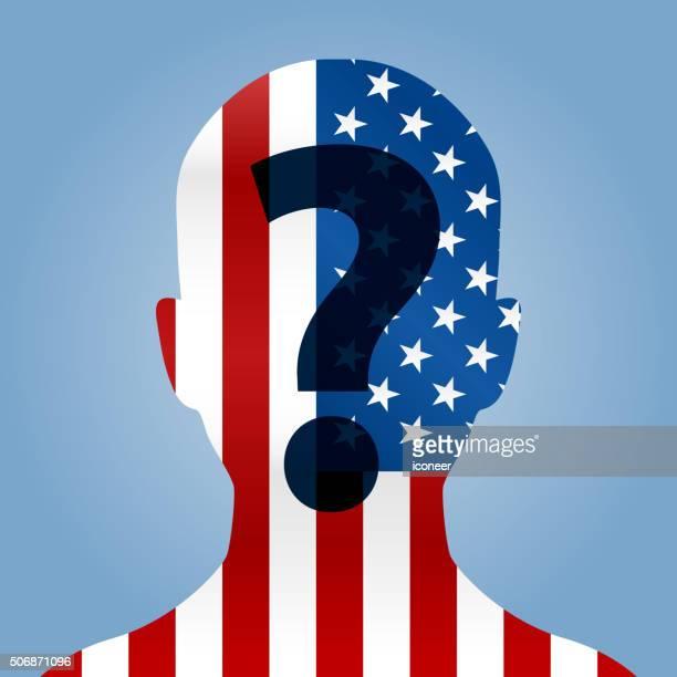 Benutzer Brust mit amerikanischer Flagge USA Kandidaten