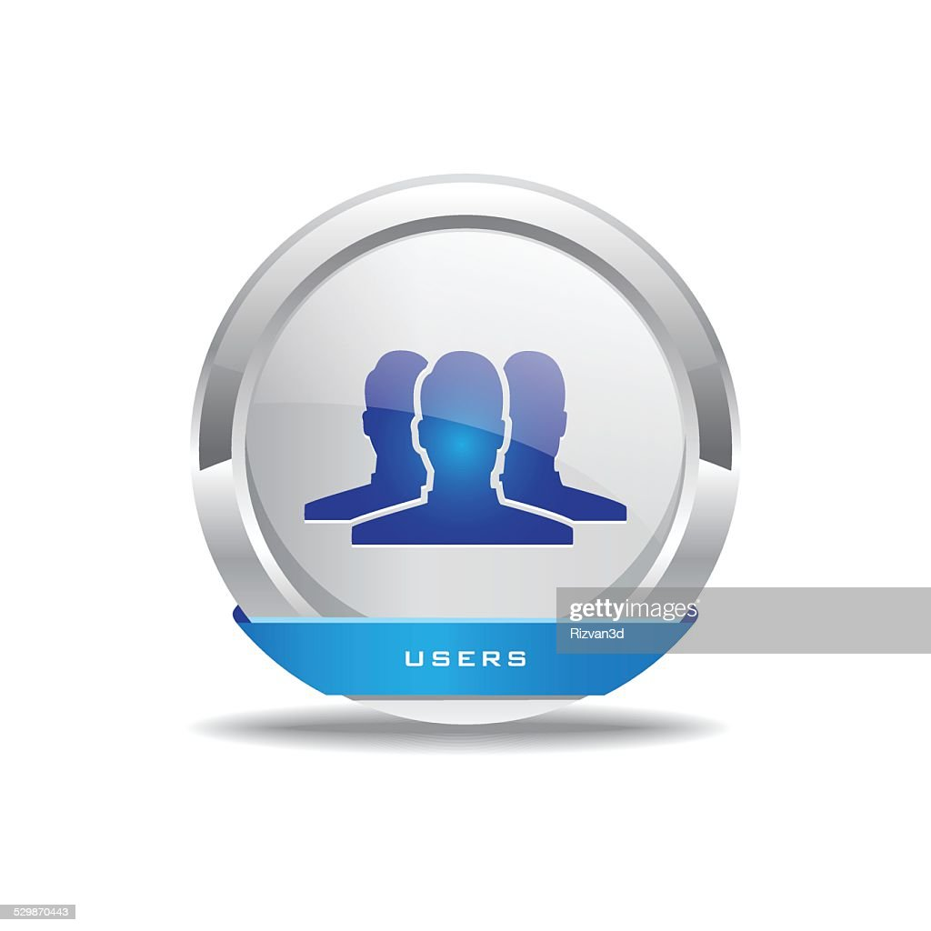 User Circular Vector Blue Web Icon Button