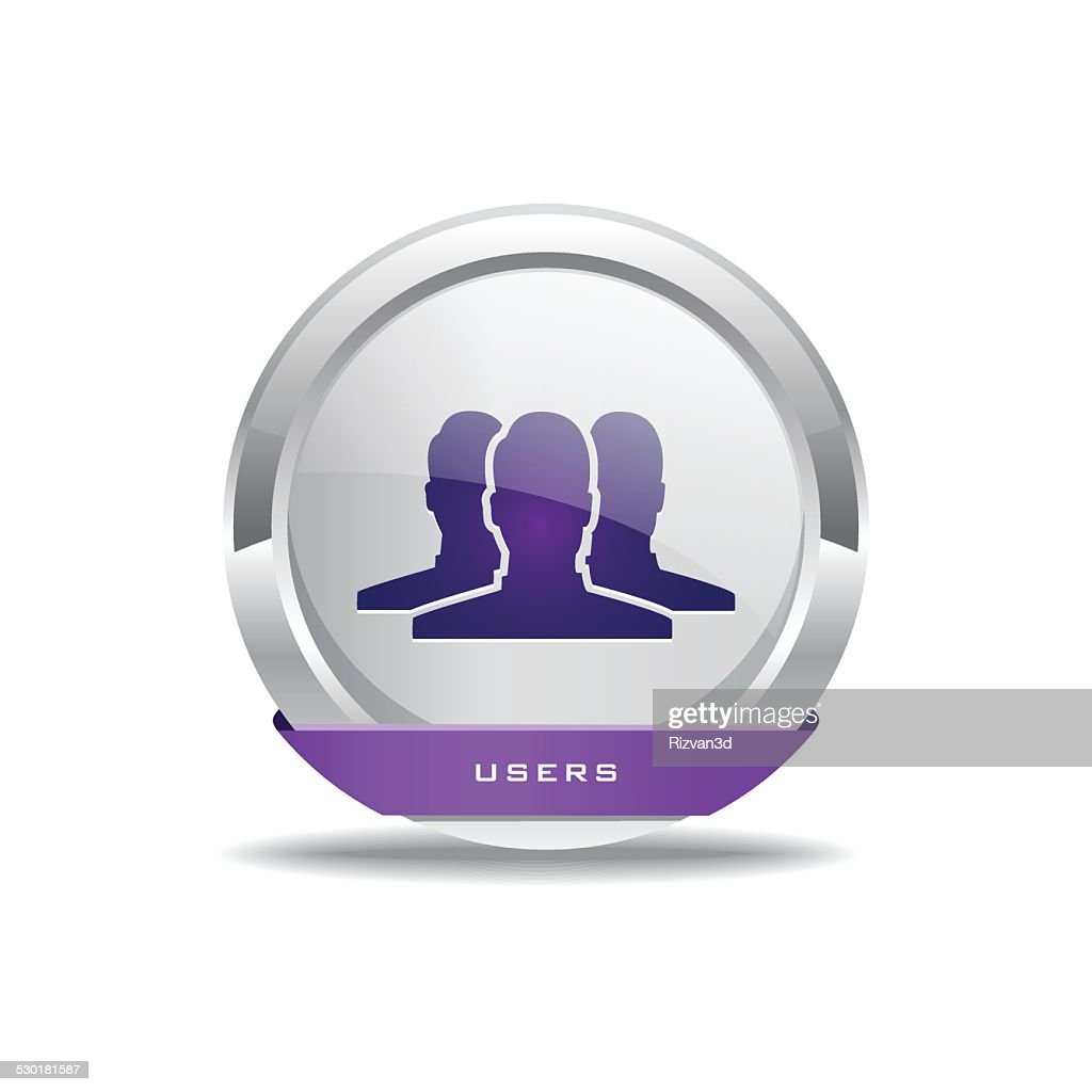 User Circular Vector Purple Web Icon Button