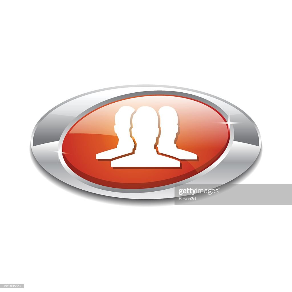 User Elliptical Vector Orange Web Icon Button