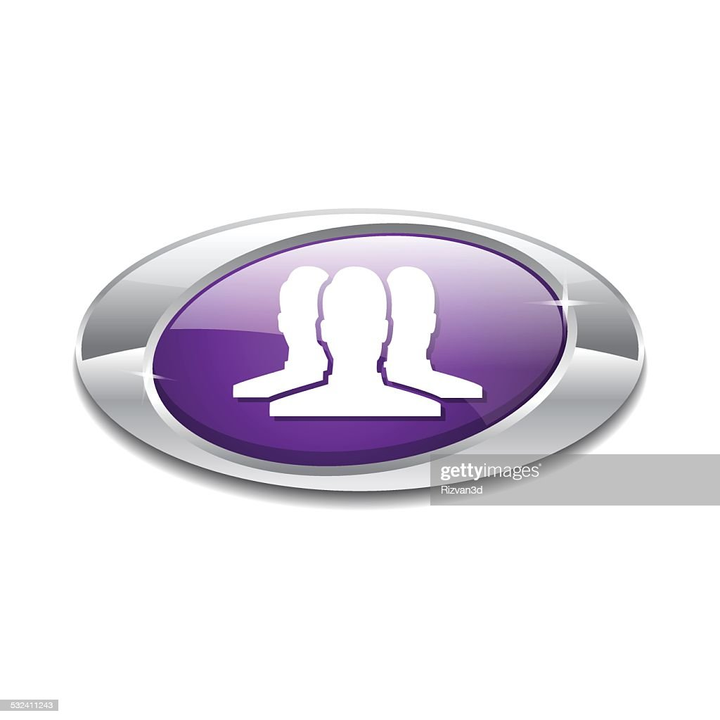 User Elliptical Vector Violet Web Icon Button