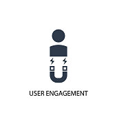 User Engagement icon. Simple element illustration