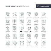 User Experience Editable Stroke Line Icons