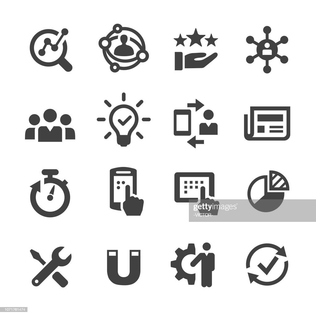 User Experience Icon - Acme Series : Stock Illustration