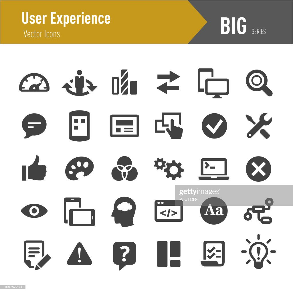 User Experience Icons - Big Series : stock illustration