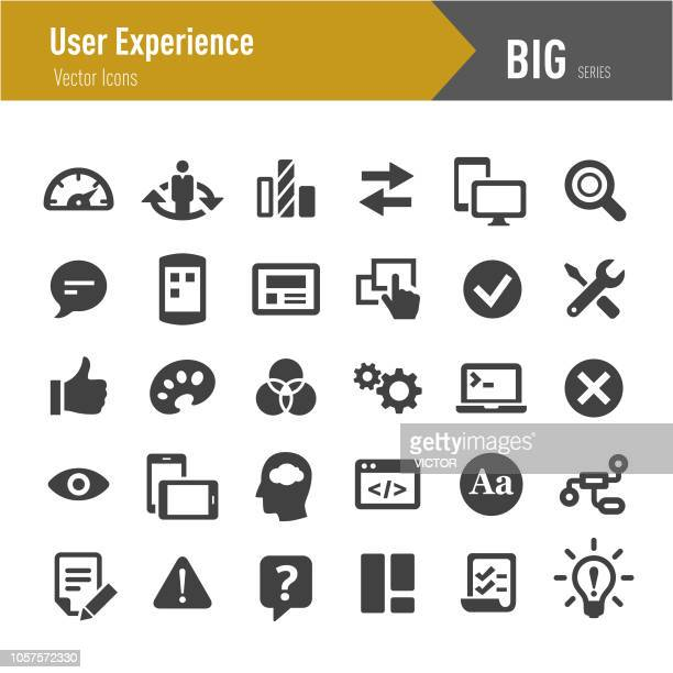 user experience icons - big series - control stock illustrations