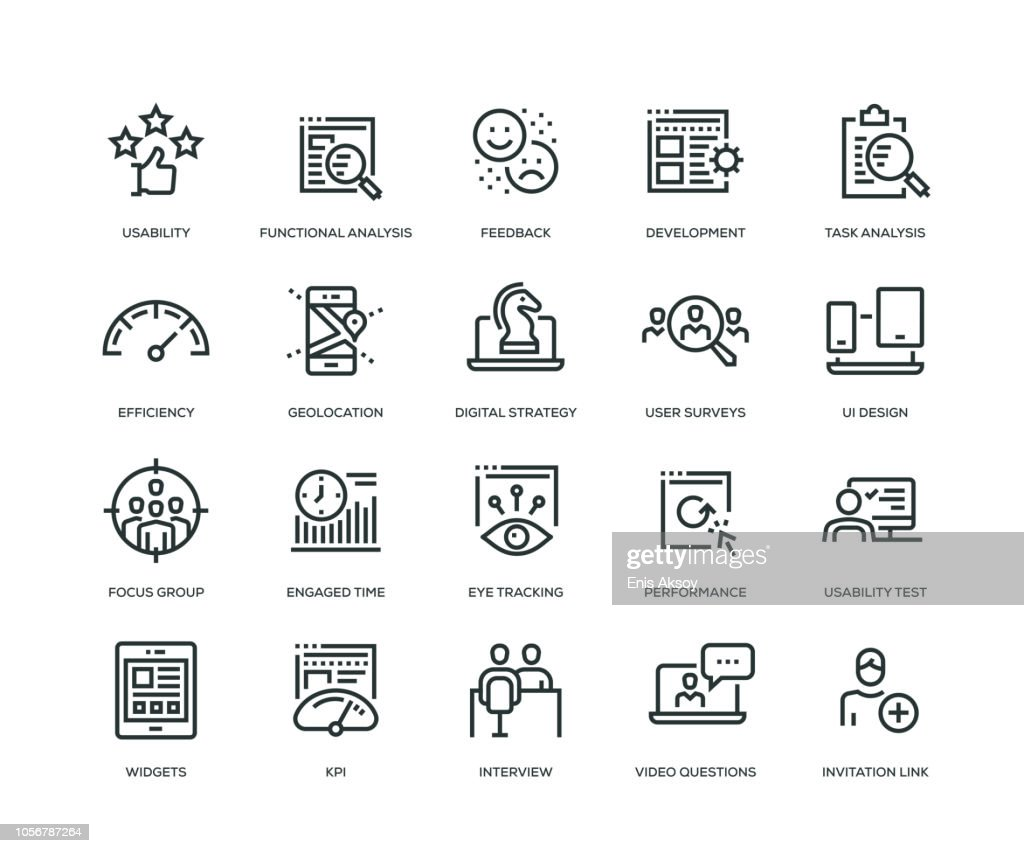User Experience Icons - Line Series : stock illustration