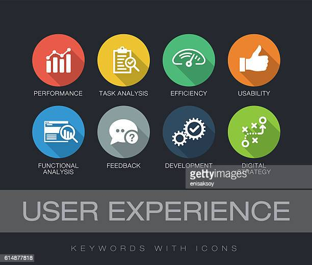 user experience keywords with icons - verification stock illustrations, clip art, cartoons, & icons