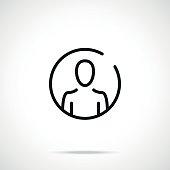 User icon. Account, profile icon concepts. Thin line design. Premium quality. Modern vector round line icon