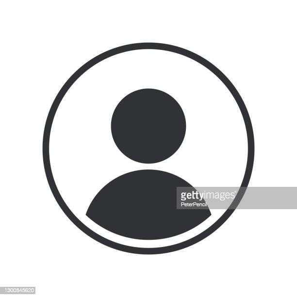 user icon flat isolated auf weißem hintergrund. benutzersymbol. vektor-illustration - am telefon stock-grafiken, -clipart, -cartoons und -symbole