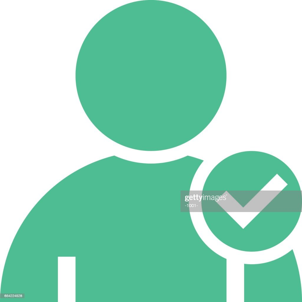 User icon member sign avatar button flat style