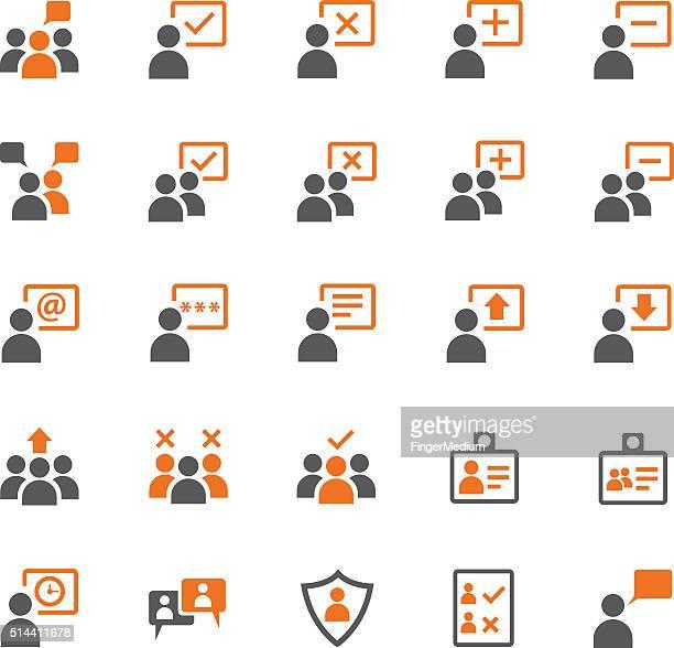 user icon set - video editing stock illustrations, clip art, cartoons, & icons