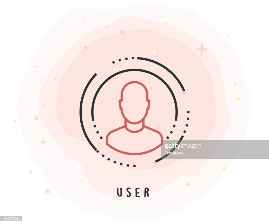 User Icon with Watercolor Patch