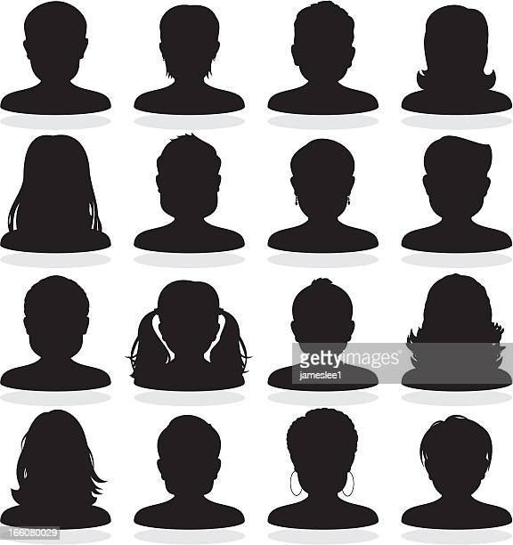user icons - headshot stock illustrations