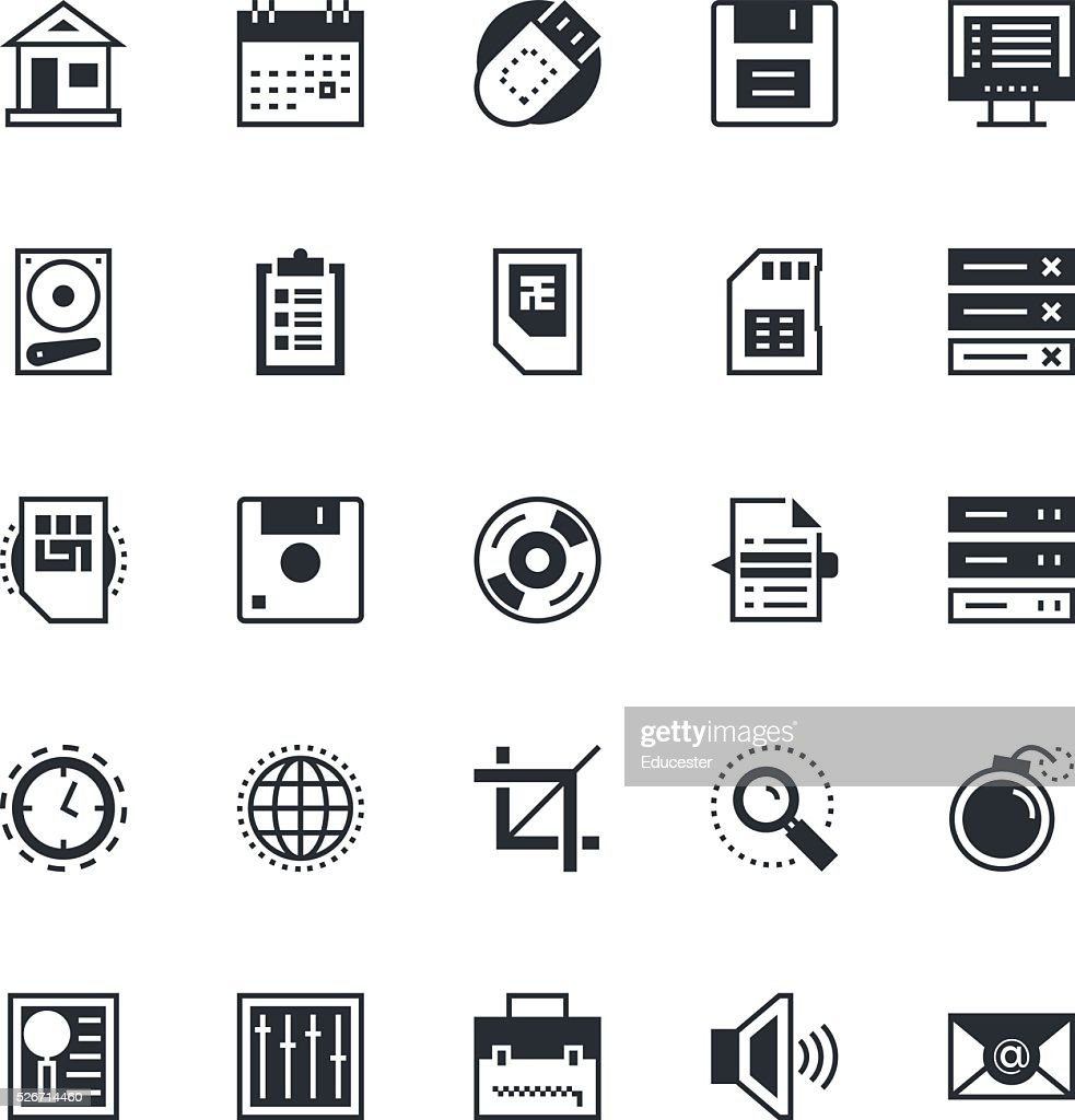 User Interface and Web Colored Vector Icons 1