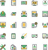 User Interface and Web Colored Vector Icons 3