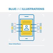User Interface Blue Line Illustration