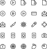 User Interface Colored Line Vector Icons 12