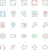 User Interface Colored Line Vector Icons 13