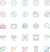 User Interface Colored Line Vector Icons 25