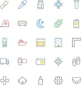 User Interface Colored Line Vector Icons 54