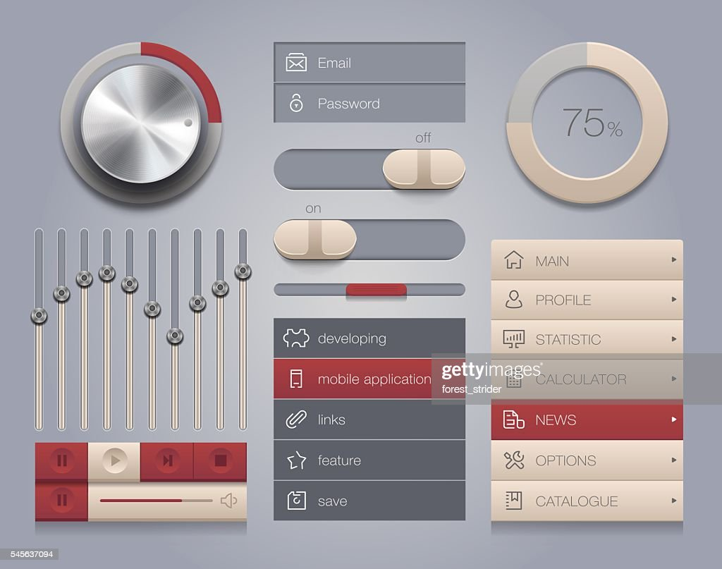 User Interface design and icons