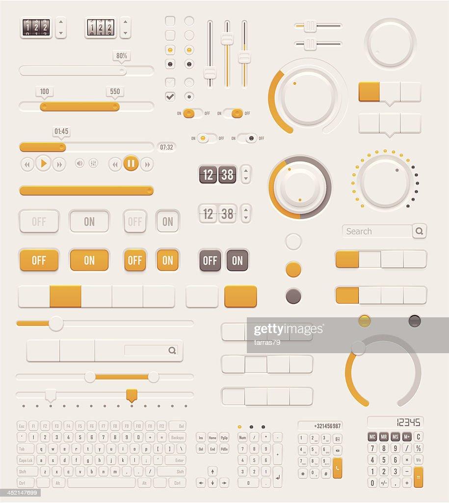 User interface dials set