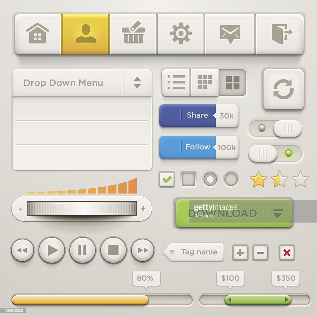 User Interface Elements & Icons