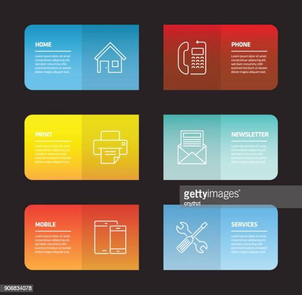 ユーザー インターフェイスのインフォ グラフィック デザイン テンプレート - ホームページ点のイラスト素材/クリップアート素材/マンガ素材/アイコン素材