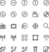 User Interface Line Vector Icons 25