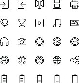 User Interface Line Vector Icons 49