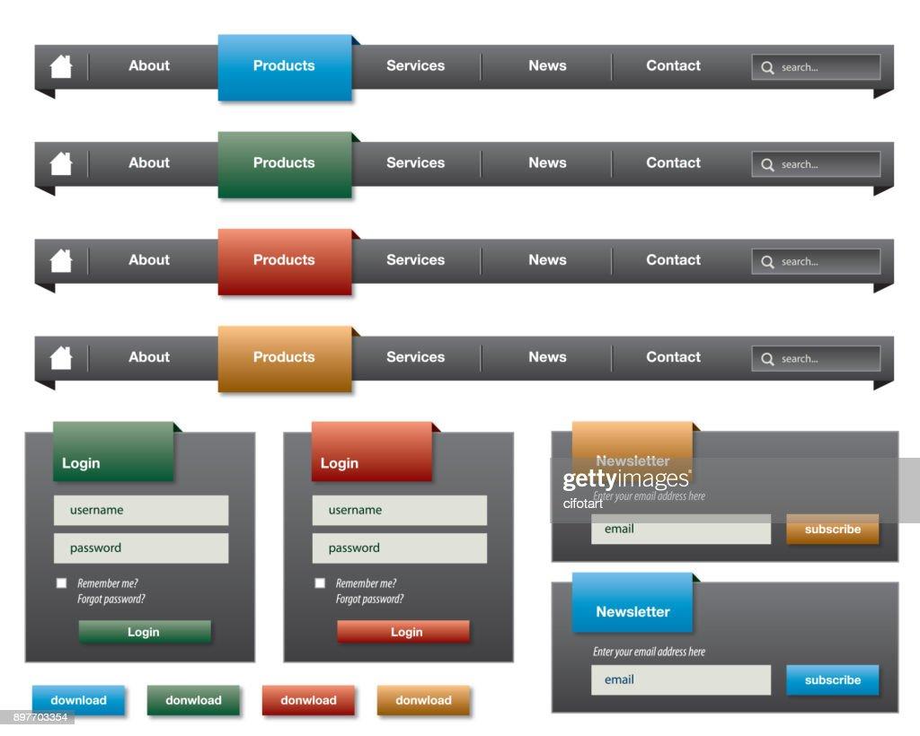 user interface set
