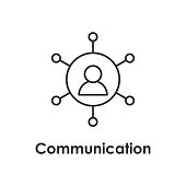 user, man, communication icon with name