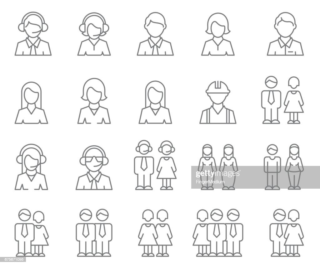 User Profile icon set : stock illustration