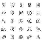 User profile icon set