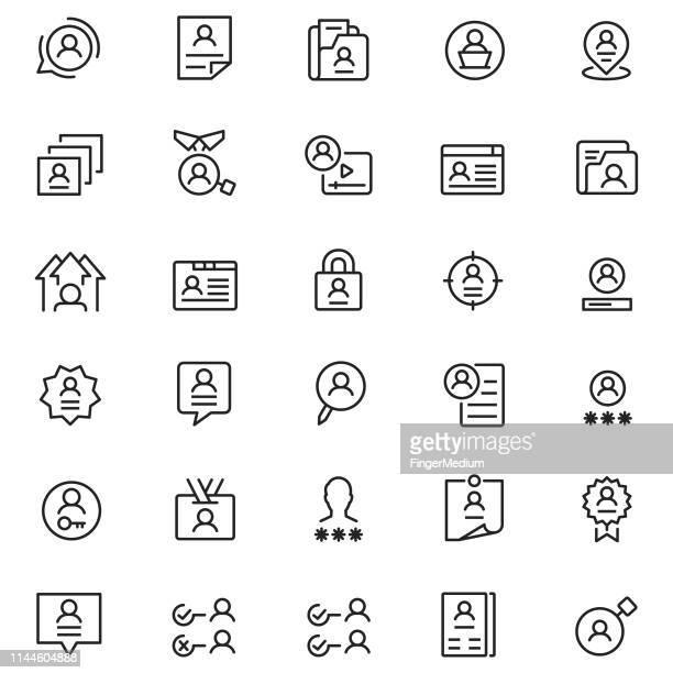 user profile icon - identity stock illustrations