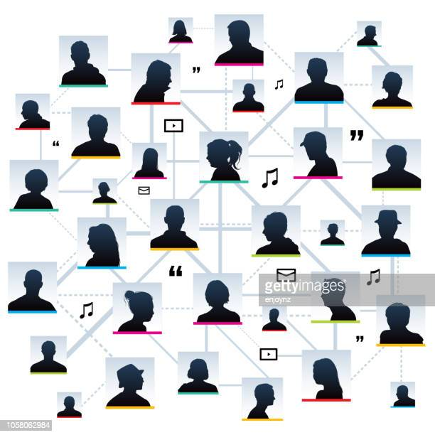användaren profil silhuetter